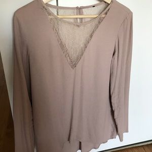 Lace nude blouse